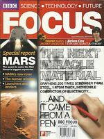 BBC Focus Magazine The Next Miracle Material Mars Quantum Theory Technology 2011