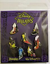 Disney Pin Booster Pack 7 VILLAINS SHOES Maleficent Hook Evil Queen Ursula + NEW