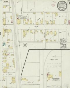 Ansonia, Ohio Sanborn map sheets in color made 1896 to 1926 in COLOR~9 maps