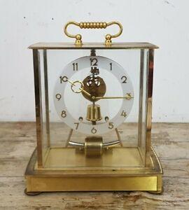 Kieninger & Obergfell Kundo Electronic Brass Magnetic Skeleton Clock A/F Germany