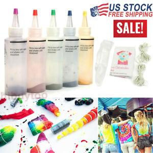 2020 Tie Dye Kit Arts Craft Design Fabric Tye Dye One Step Fashion Set 5 Colors