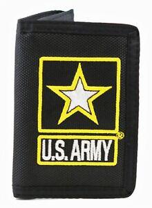 U.S. Army Logo II Tri-Fold Wallet Black