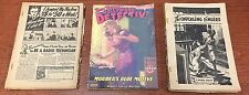 Lot of 3 Lone Wolf Detective/Hollywood Detective Pulp Magazines (1941-43)