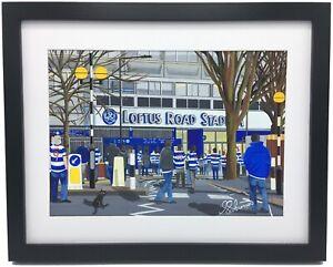 QPR  Loftus Road Stadium High Quality Framed Art Print. Approx A4