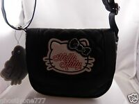 Hello Kitty purse black and white bling bow vinyl Sanrio vinyl cute gift