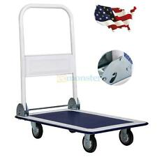 330lbs Platform Cart Dolly Folding Foldable Push Hand Truck Moving Warehouse