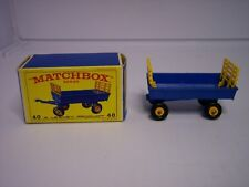 Vintage Matchbox A Lesney Product Number 40 Hay Trailer With Original Box