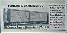 Funaro & Camerlengo 6552/6553 HO Bar Ara 1927 SS Boxcar Kit Resin