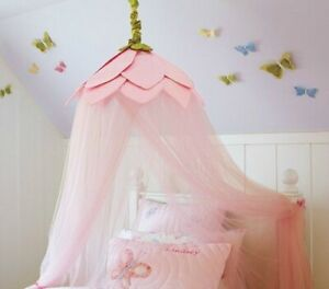Pottery Barn Kids Rose flower top pink Tulle Canopy
