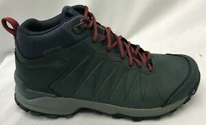 Oboz Women's Sypes Mid Leather B-Dry Hiking Shoes 77102 Slate Size 7