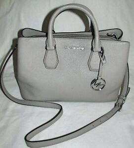 Michael Kors Jet Set Medium Taupe Gray Satchel Crossbody Tote Shoulder Bag Purse