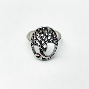 BRAND NEW STERLING SILVER TREE OF LIFE RING OVAL RING 925 STERLING SILVER
