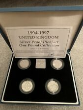 More details for 1994-1997 piedfort £1 coin collection