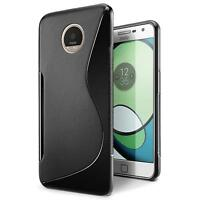 Handy Hülle Motorola Moto Z Ultra Slim Case Silikon Cover Schutz Tasche Schwarz