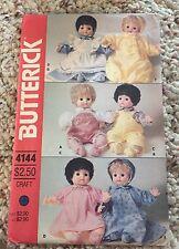 Butterick 4144 Vintage Doll Clothing Pattern Uncut