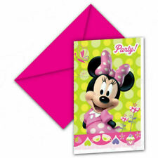 Disney Minnie Mouse pack of 6 Party Invitation cards