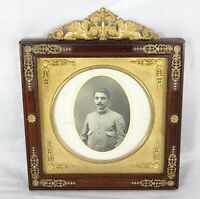 Antique French Empire Style Gilt Bronze  Picture Frame - Mahogany Wood - Sphynx