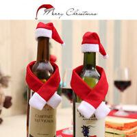 2/10x Set Noël Santa bouteille de vin sac de la table de réception dé LC