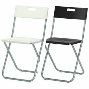 IKEA GUNDE Folding Chair Galvanized Steel Lightweight Durable Easy To Carry