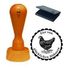 Stempel « Eier von glücklichen Hühnern » Motivstempel Eier Huhn Ei Hühnerhof 05