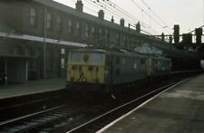 PHOTO  GUIDE BRIDGE RAILWAY STATION CLASS 76'S ELECTRIC LOCOS 760257 AND 76009 1