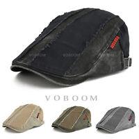 VOBOOM 100% Cotton Men's Ivy Hats Stripes Beret Newsboy Gatsby Golf Flat Cabbie