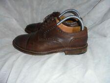 MASSIMO DUTTI Hombres Marrones Cuero con Cordones Cuero Calado Zapatos Size Uk 7 EU 41 en muy buena condición