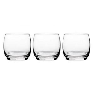Set of 3 Elegant Transparent LAV Drinking Juice Water Whiskey Glasses 325ml