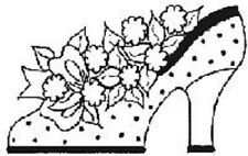 SHOE PUNCHIN Rubber Stamp 5982 Make An Impression Inc Brand NEW! flowers