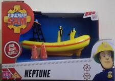 Fireman Sam ~ Neptune Rescue Boat Push Along Vehicle