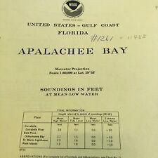 1975 NOAA Chart #11405 Florida Apalachee Bay 2 Sided (5)