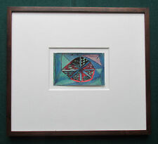 Postal de tinta de color Raro Antiguo por artista británico forastero Madge Gill