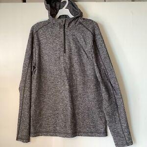 Lululemon Grey Long Sleeve Hoodie 1/4 Zipper Women's Size 12 (16AU)  Thumb Loops