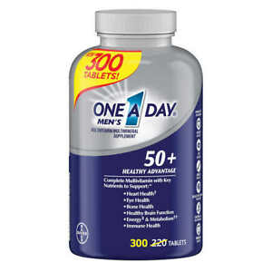 BAYER One A Day Men's 50+ Healthy Advantage Multivitamin + Nutrients 300 Tablets