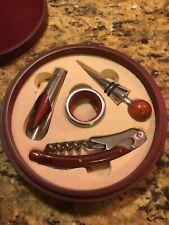 Barware Tool Set In Round Wood Box