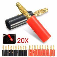 20X 4mm Audio Haut-parleur Cable Banane Prise Fiche Adaptateur Connecteur Métal