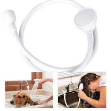 Single Wide Tap Bath Sink Shower Head Spray Hose Push On Mixer Hairdresser Pet