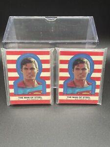 1983 Topps Superman Sticker Set Of 22 Lot Of (2) Sets DC Comics