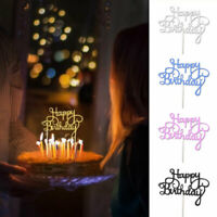 10/50Pcs Glitter Happy Birthday Cake Topper Cupcake Dessert  Party Decoration