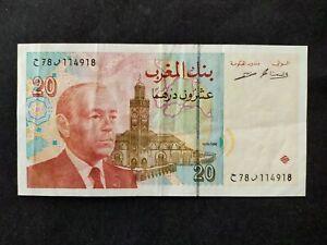 Maroc billet 20 dirhams 1996 en TTB +