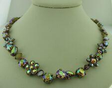 Sorrelli Amaretto Swarovski Crystal and Opaque Stone Necklace NBL12AGAMA