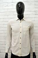 Camicia Uomo LEVI'S Camicetta Maglia a Righe Shirt Man Manica Lunga Taglia S