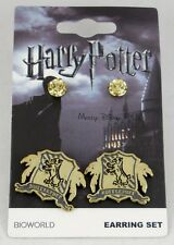 New Harry Potter Harry Potter Hufflepuff House Crest Stud Earring Set Earrings