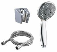 Replacement Shower Head Set Universal Multi 3 Function Chrome Bracket 1.5m Hose