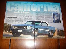 1968 FORD MUSTANG GT CS CALIFORNIA SPECIAL  - ORIGINAL 2007 ARTICLE