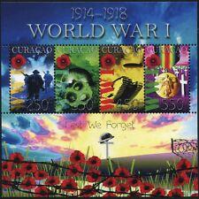Curacao 2015 1. Weltkrieg World War Lest We Forget Militär Panzer Gaskrieg MNH