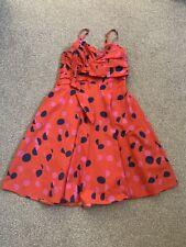 H&m Orange Summer Party Dress Size Eu 38