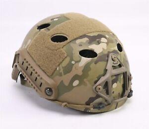 Ops-Core Fast Carbon High Cut Helmet w/ Skeleton Shroud LARGE/XLARGE Multicam