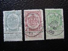 BELGIQUE - timbre - yvert et tellier n° 81 a 83 obl (pliure) (A6) stamp belgium