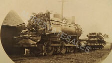 Early 1900's Train Wreck RPPC Railroad Depot Steam Engine Shay,Baldwin ??